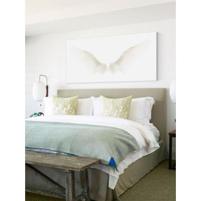"""18 in. H x 36 in. W """"White Wings"""" by Marmont Hill Printed Canvas Wall Art"""
