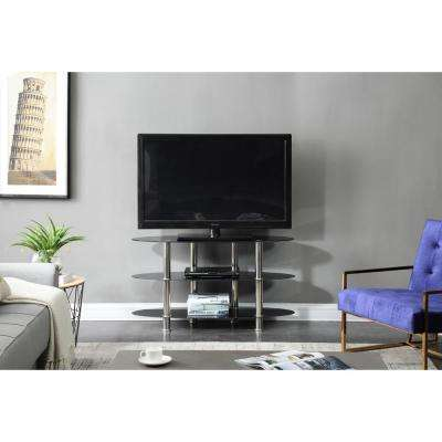 43 in. Wide Glass TV Stand with 3-Shelves