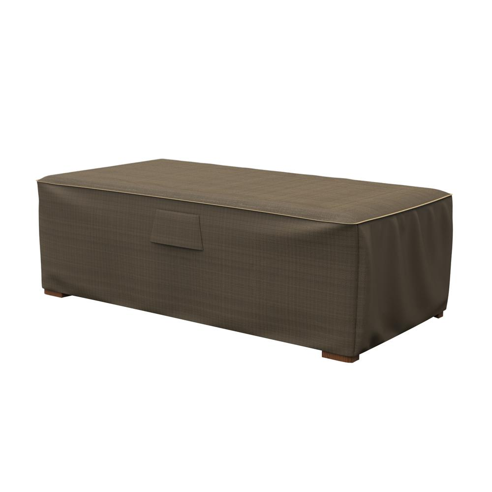 Budge Rust Oleum Neverwet Hillside Large Black And Tan Patio Ottoman Coffee Table Cover P5a36btnw3 The Home Depot