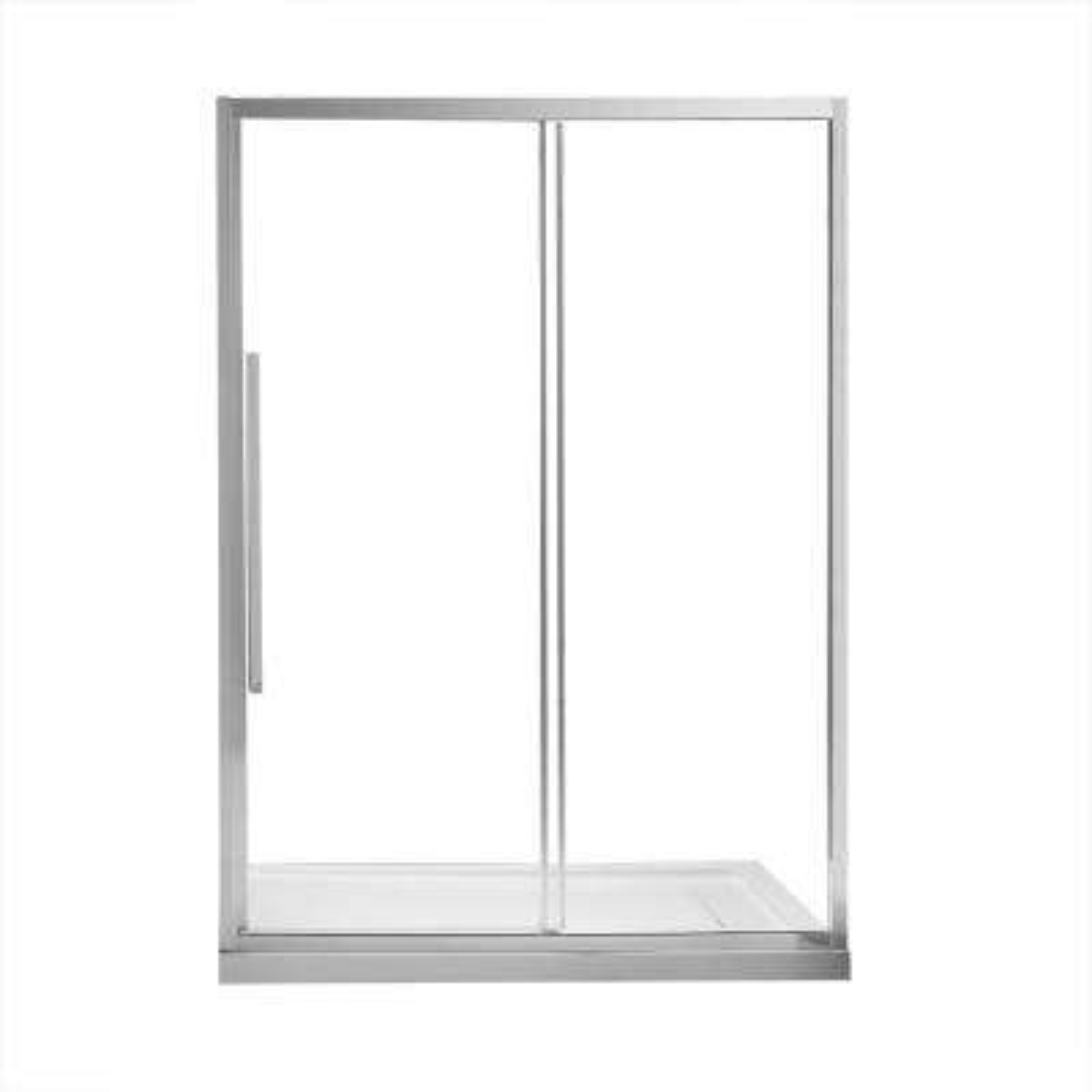 Chaye 60 in. x 78.74 in. H Semi-Frameless Sliding Shower Door in Chrome