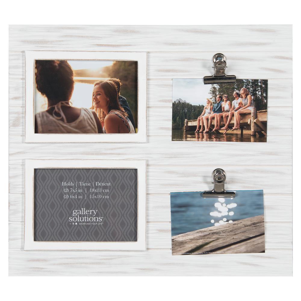 Collage Whitewash Clip Picture Frame