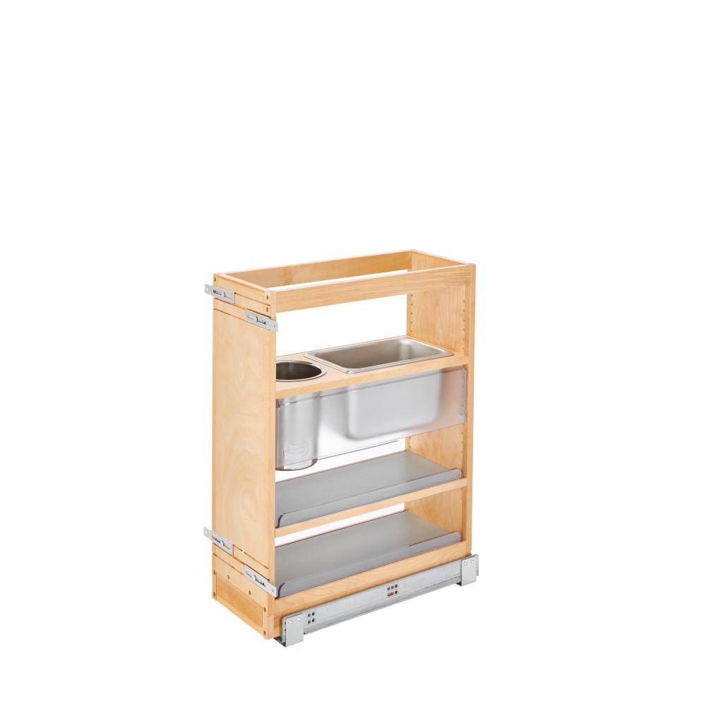 Rev A Shelf 25 In X 8 In Vanity Grooming Organizer With Soft Close