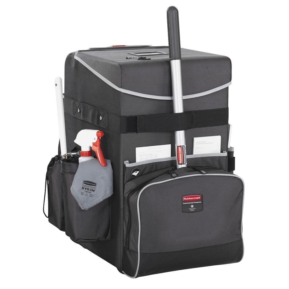 16.5 in. x 14.3 in. x 25 in., 60 lb. Capacity Dark Gray Large Executive Quick Cart Telescopic Handle