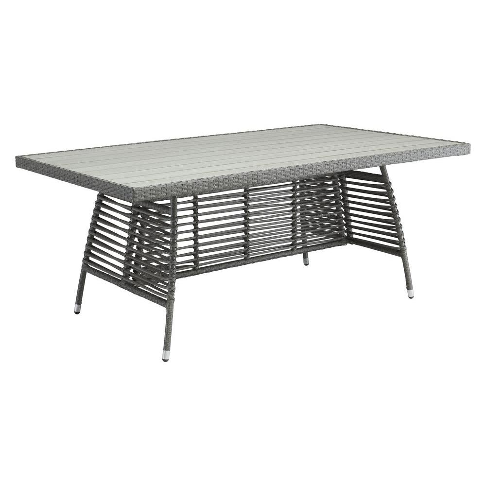 ZUO Sandbanks Grey Patio Dining Table