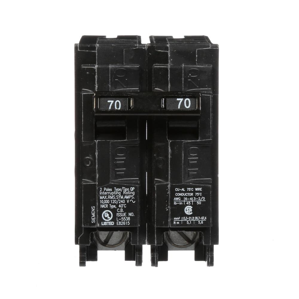 Murray 70 Amp Double Pole Type Mp Circuit Breaker Us2mp270p The Mpt 1000 Wiring Diagram