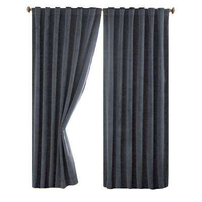 Total Blackout Faux Velvet Curtain Panel