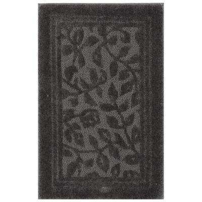 Wellington 24 in. x 40 in. Nylon Bath Rug in Factory Gray