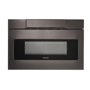 Sharp 1.2 cu. ft. 24 inch Built-In Microwave Drawer with Concealed Controls in Black Stainless Steel Finish with Sensor Cooking by Sharp