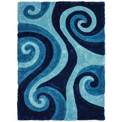 United Weavers Finesse Chimes Blue 1 ft. 10 in. x 3 ft. Accent Rug
