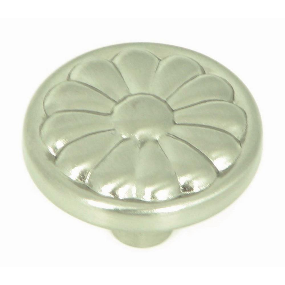 Stone Mill Hardware Holland 1-1/4 in. Satin Nickel Round Cabinet Knob (10-Pack)