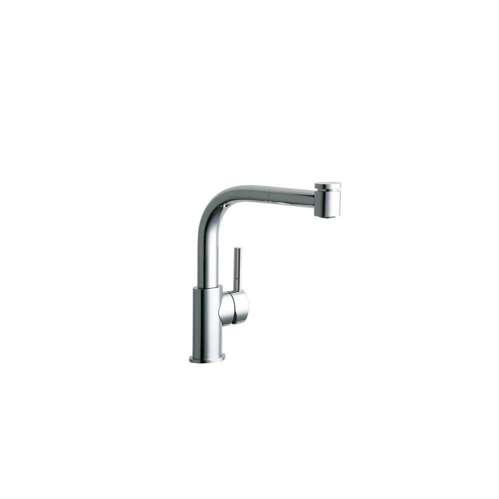 Elkay Mystic Single-Handle Pull-Out Sprayer Kitchen Faucet in Chrome ...