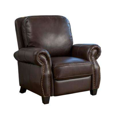 Neville Brown PU Leather Recliner