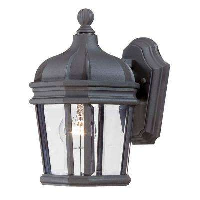 Harrison 1-Light Black Outdoor Wall Mount Lantern