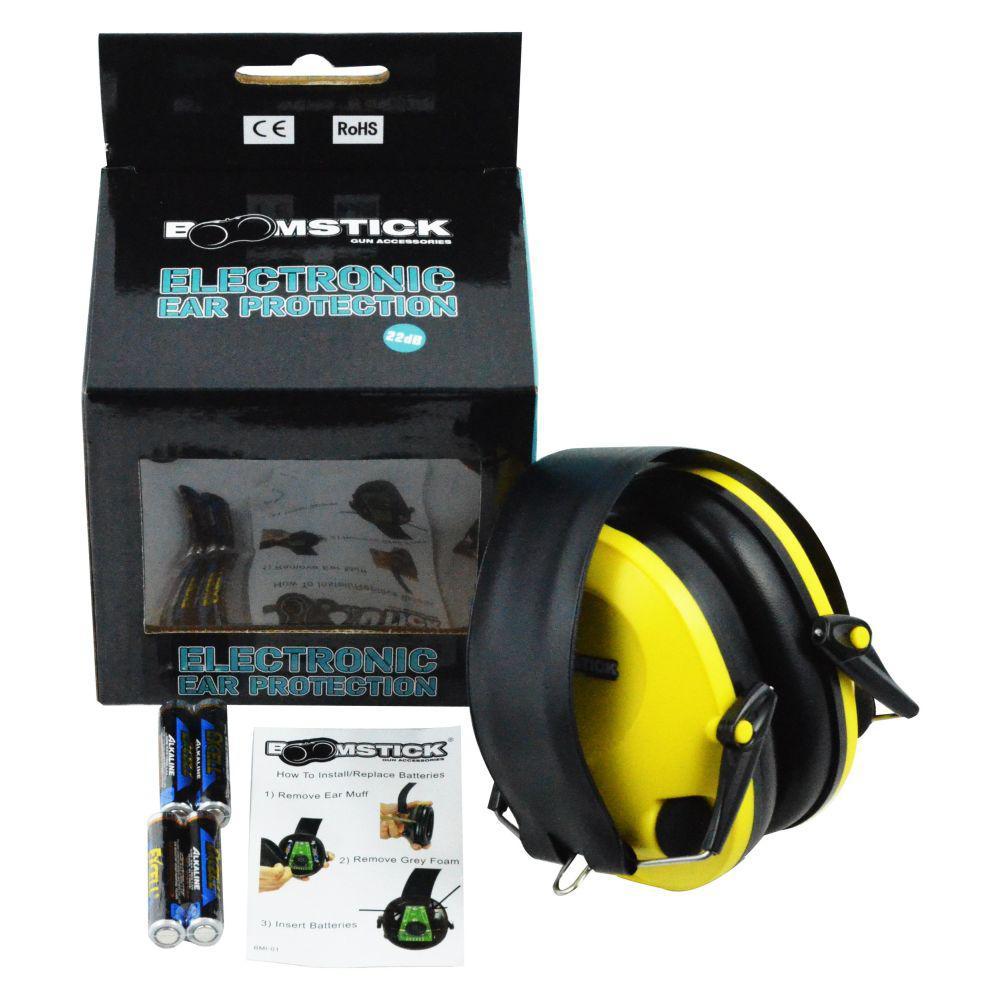 Electronic Ear Muff with 4 AAA in Yellow