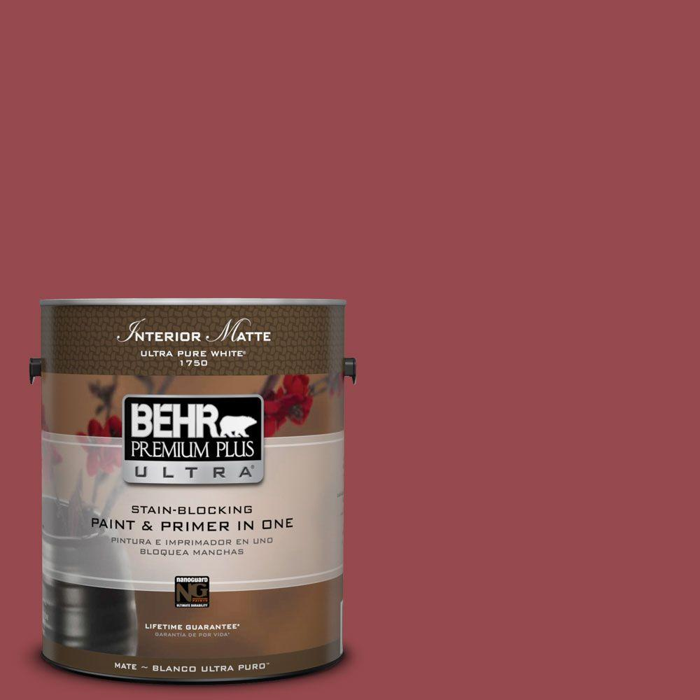 1 gal. #M140-6 Circus Red Matte Interior Paint