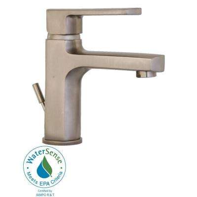 Novello Single Hole SingleHandle Low-Arc Bathroom Faucet in Brushed Nickel