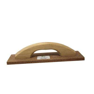 12 in. x 3-1/2 in. Cali Wood Hand Float with Wood Handle