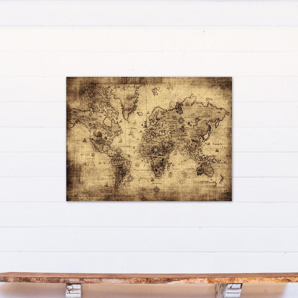 Designs direct 30 in x 40 in old world map printed canvas wall art old world map printed canvas wall art gumiabroncs Image collections