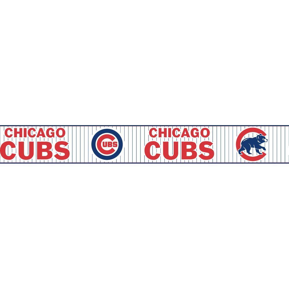 Major League Baseball Boys Will Be Boys II Chicago Cubs Wallpaper Border