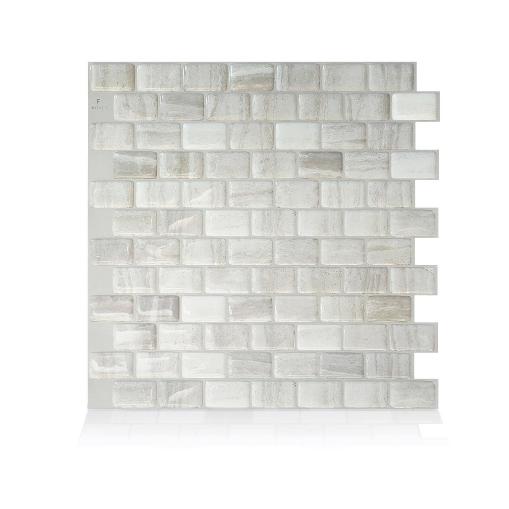 Smart Tiles Ravenna Farro 9.80 in. W x 9.74 in. H Peel and Stick Self-Adhesive Decorative Mosaic Wall Tile Backsplash (4-Pack)