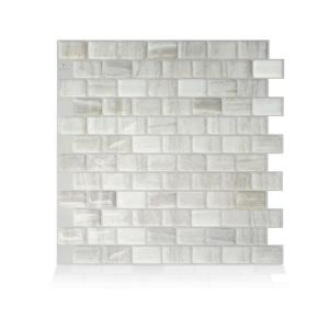 Ravenna Farro 9.80 in. W x 9.74 in. H Peel and Stick Self-Adhesive Decorative Mosaic Wall Tile Backsplash (4-Pack)