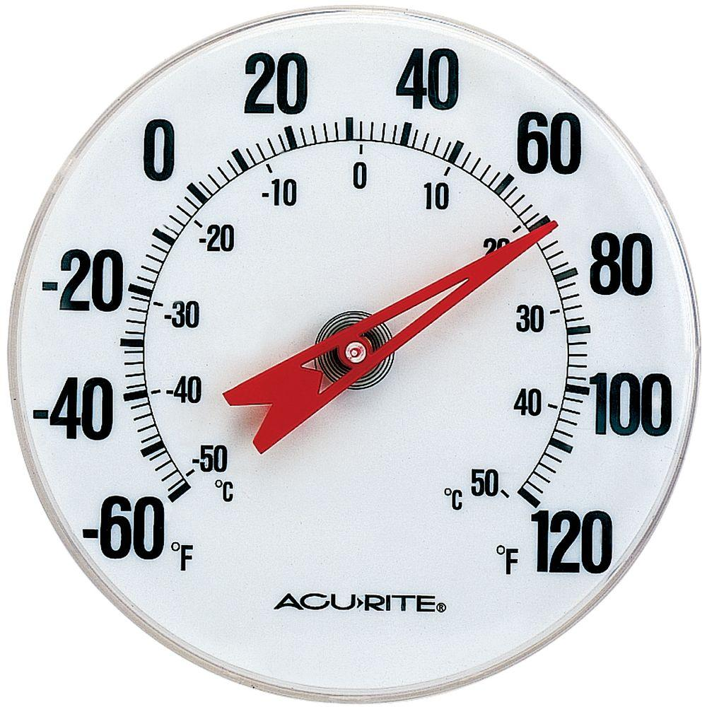 Acurite Analog Thermometer 00346hdsba2 The Home Depot