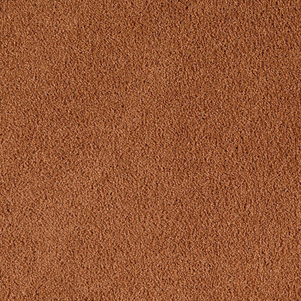 Cashmere II - Color Copper Kettle Texture 12 ft. Carpet