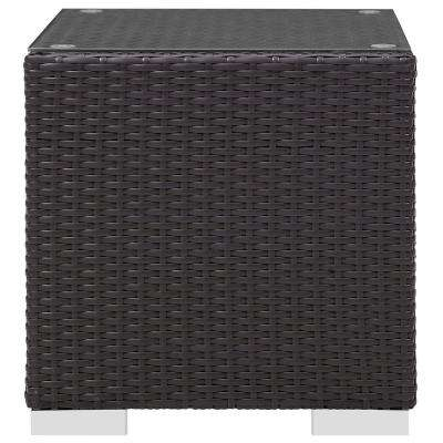 Convene Patio in Espresso Wicker Outdoor Side Table