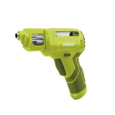 4-Volt Max Lithium-Ion Cordless Rechargeable Power Screwdriver with Quick Change Bit System