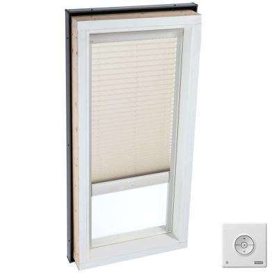 Solar Powered Light Filtering Classic Sand Skylight Blind for FCM 4646, QPF 4646, VCM 4646, VCE 4646, VCS 4646 Models