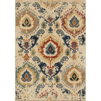 Moroccan Scroll Eastern Beige 8 ft. x 11 ft. Area Rug