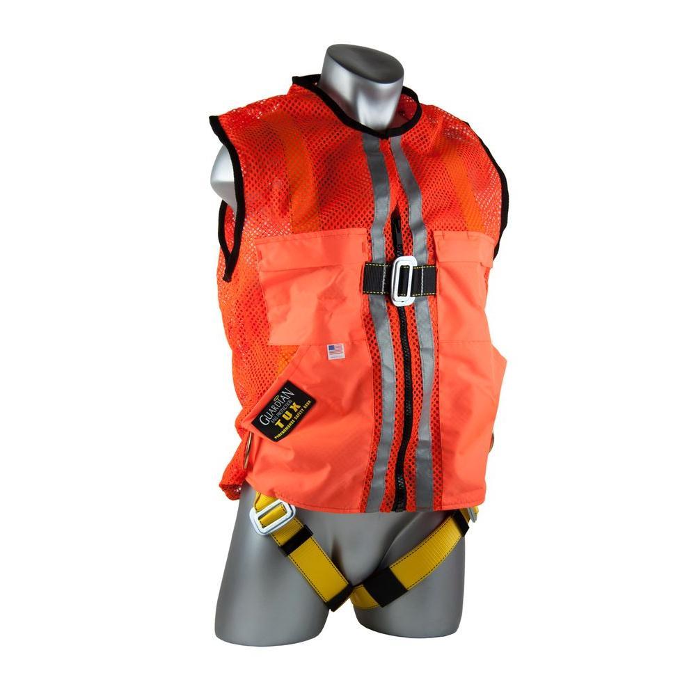 Qual-Craft XL Orange Mesh Construction Tux