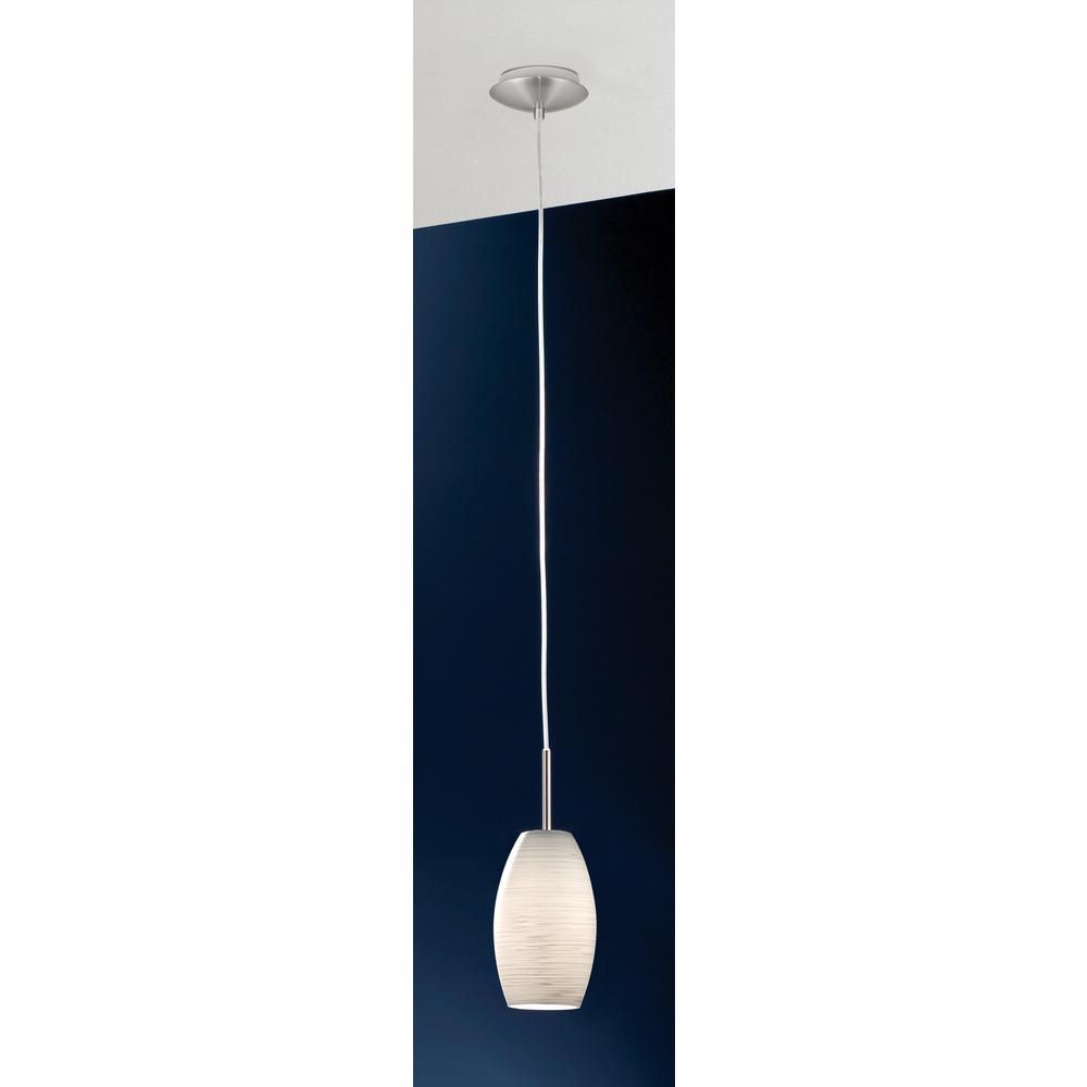 Eglo Batista 1 Light Matte Nickel And White Mini Pendant 88953a The Home Depot