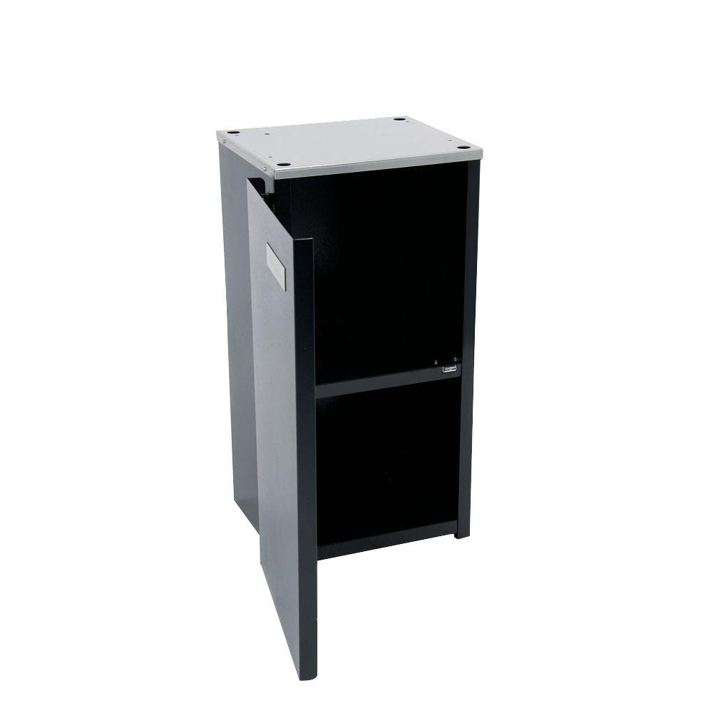Paragon Premium Professional 4 oz. Popcorn Stand, Black/Powder Coat Stands provide easier access and better merchandising. The sturdy, all steel construction has a chip resistant coating. Also features convenient built-in storage space and breaks down easily for storage and transportation. Color: Black/Powder Coat.