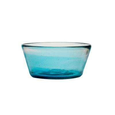 Chico 16 oz. Glass Dog Bowl in Bluse (Set of 2)