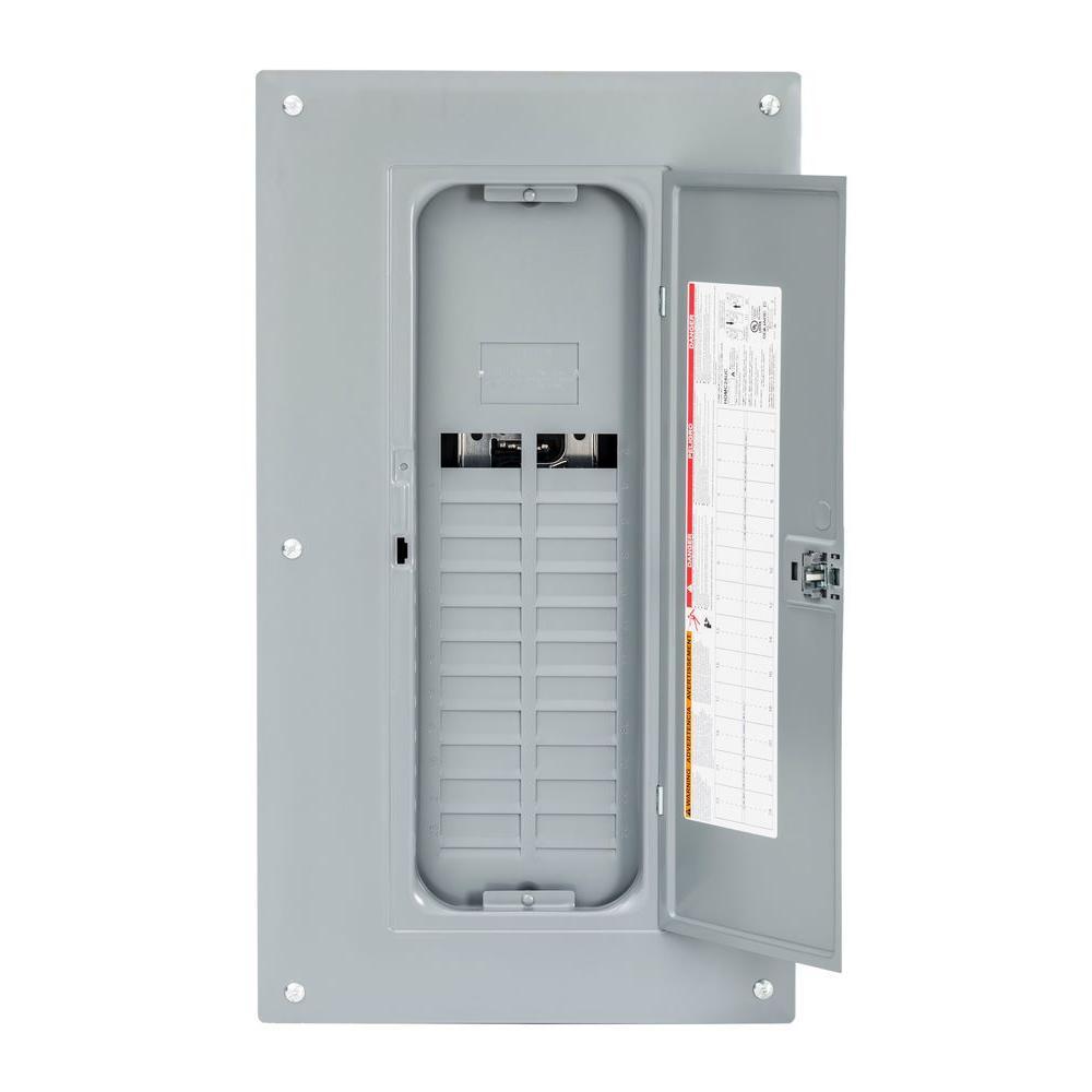 Homeline 125 Amp 24-Space 48-Circuit Indoor Main Lug Qwik-Grip Plug-On Neutral