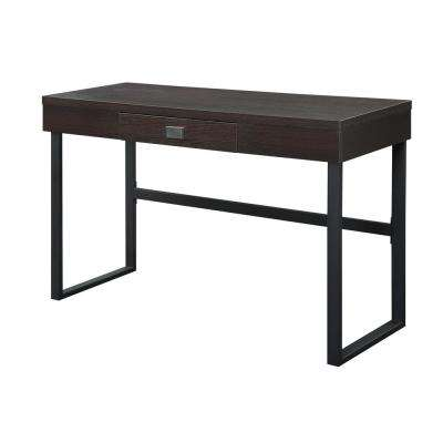Northfield Espresso Desk with Drawer