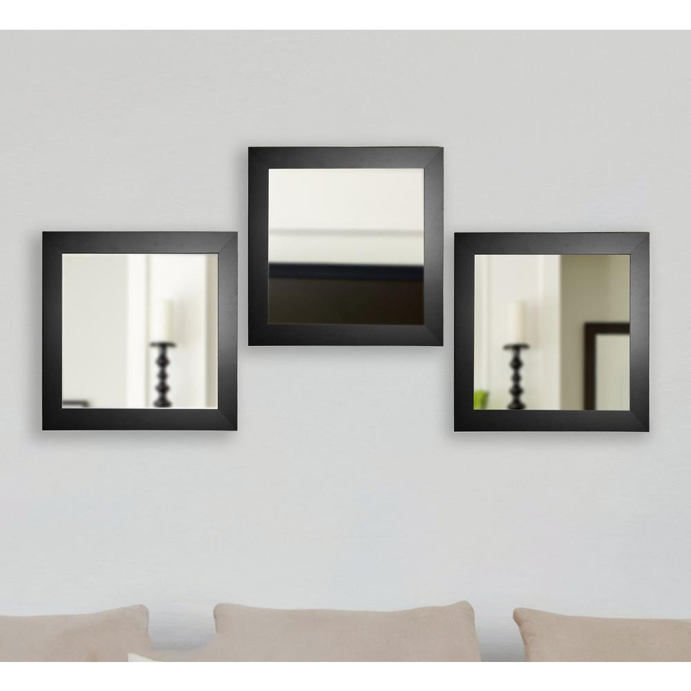 Black Satin Square Wide Wall Mirrors. Gold metallic   Mirrors   Wall Decor   The Home Depot