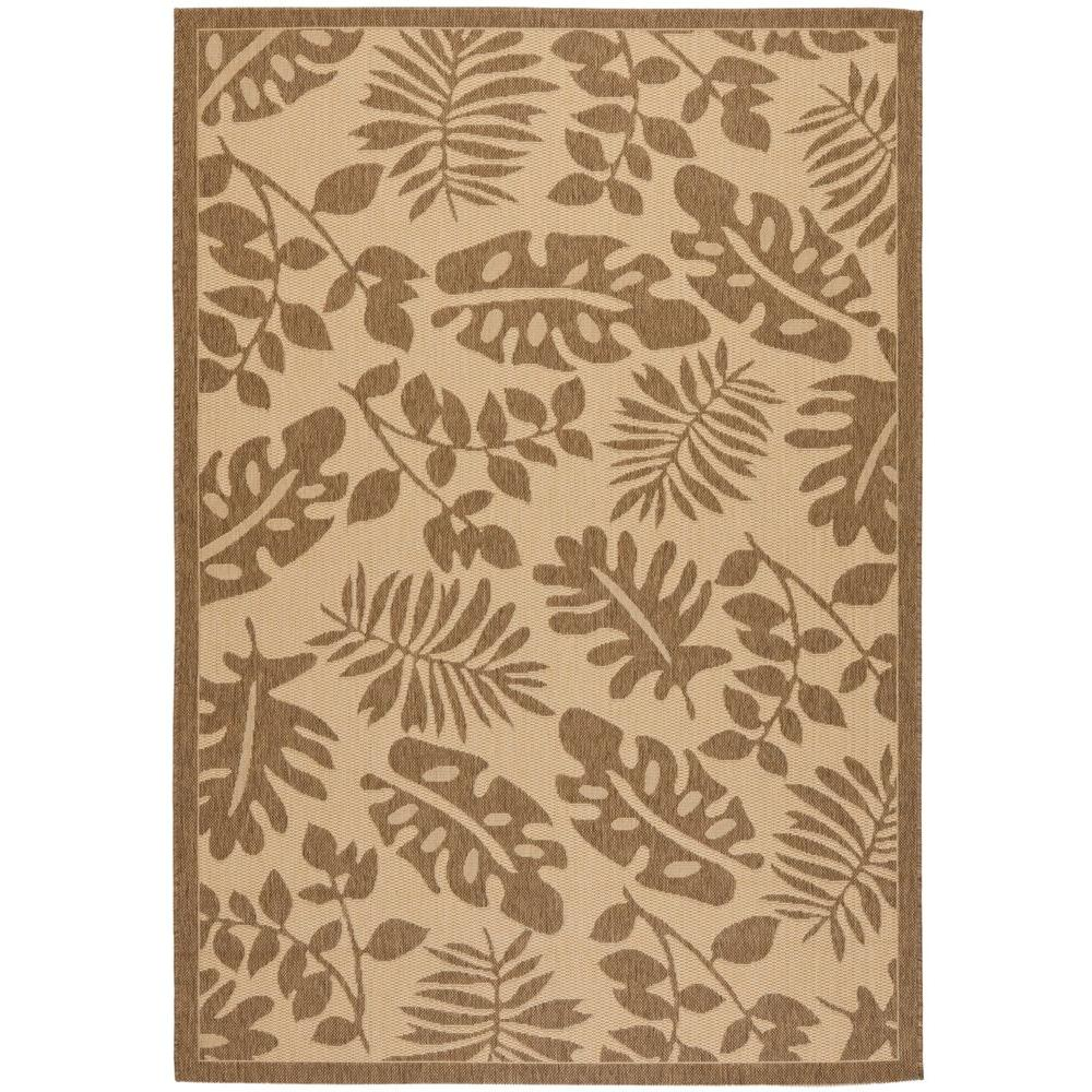 Martha Stewart Living Paradise Cream/Brown 6 ft. 7 in. x 9 ft. 6 in. Area Rug