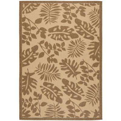 Paradise Cream/Brown 6 ft. 7 in. x 9 ft. 6 in. Area Rug