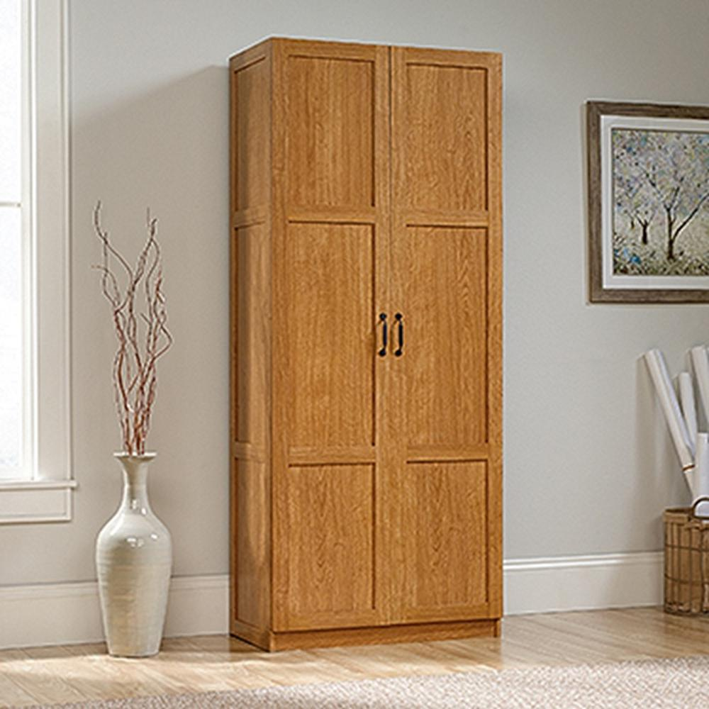 Sauder Woodworking Highland Oak Cabinet 419188 The Home Depot