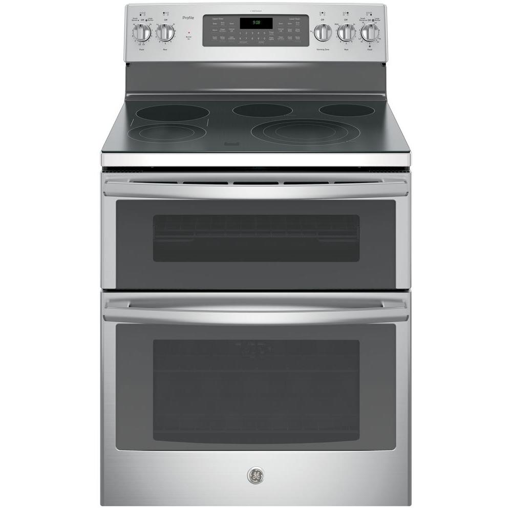 Double Ovens Electric ~ Ge profile in cu ft double oven electric range