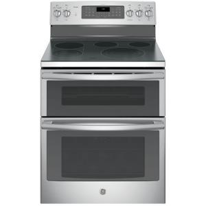 Click here to buy GE Profile 30 inch 6.6 cu. ft. Double Oven Electric Range with Self-Cleaning Convection Oven (Lower Oven) in Stainless Steel by GE.