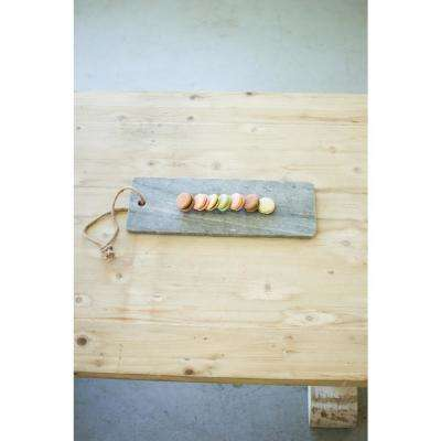 Grey Marble Cutting Board with Rope Handle