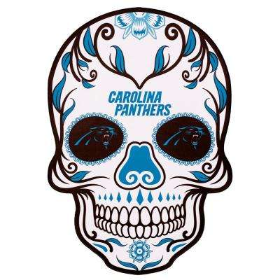 NFL Carolina Panthers Outdoor Skull Graphic- Small