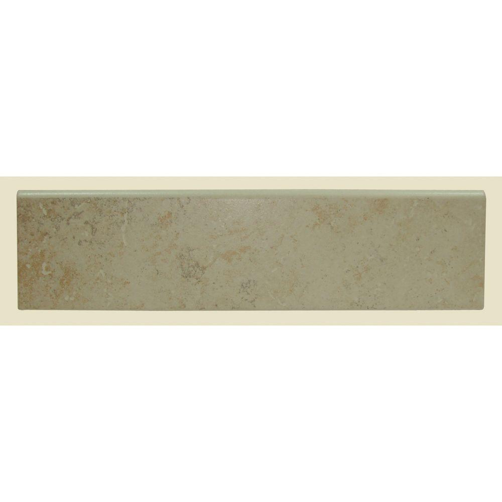 Brixton Bone 3 in. x 12 in. Glazed Ceramic Bullnose Wall