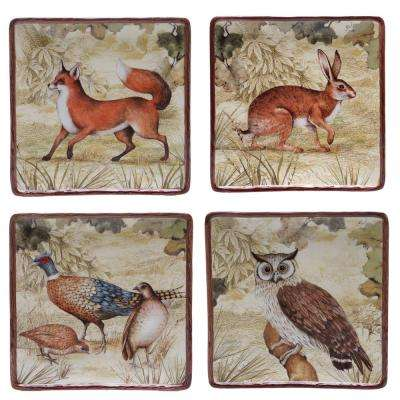 The Rustic Nature Collection Salad and Dessert Plate (Set of 4)