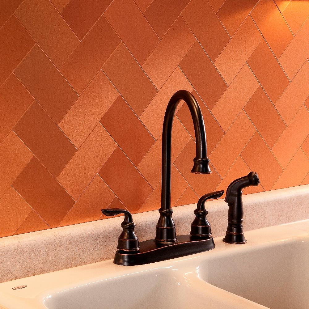 Organic Accent Wall Metal Copper: Aspect Short Grain 6 In. X 3 In. Brushed Copper Metal