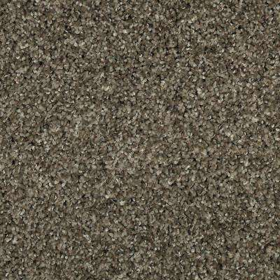 Carpet Sample - Barx I - Color Weathered Wood Textured 8 in. x 8 in.