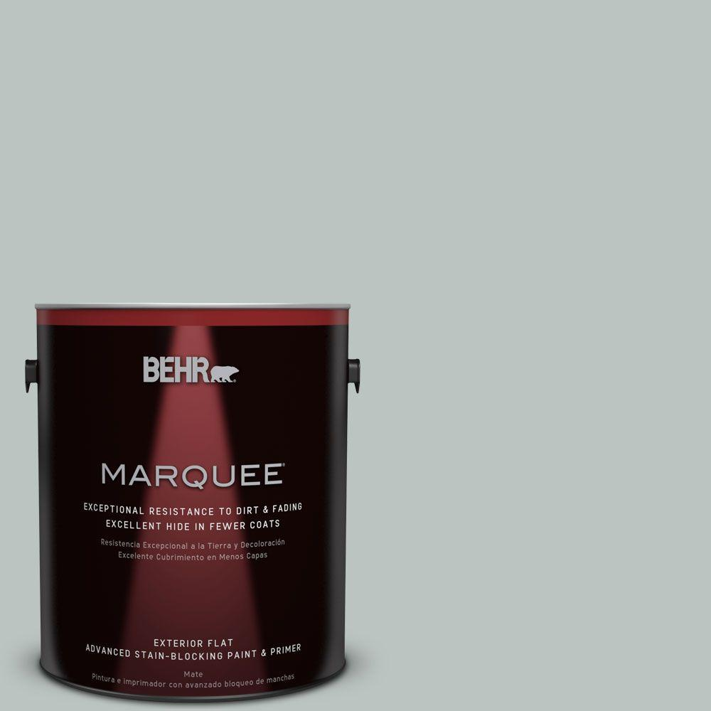 BEHR MARQUEE 1-gal. #ICC-47 Pewter Tray Flat Exterior Paint